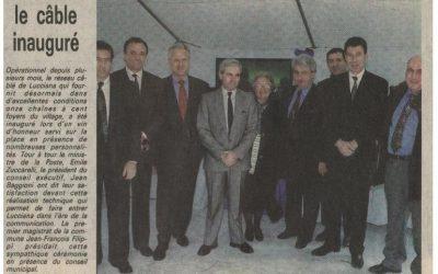 1992-12 : Lucciana : le câble inauguré