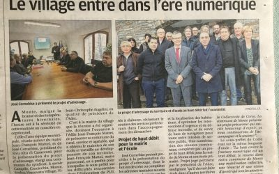 INAUGURATION DU PROJET ADRESSAGE A MONTE