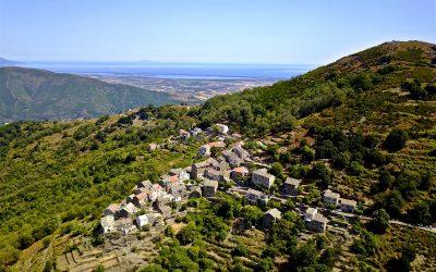 Vue aérienne des villages