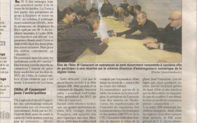 Les Elus de L'Altu di Casacconi et les Opérateurs ensembles lors de la réunion du 23 janvier 2015